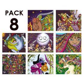 Pack de 8 de la serie MUJERES