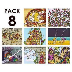 Pack de 8 de la serie NANAS DE PAPEL