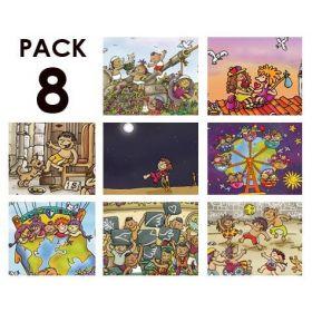Pack de 8 de la serie NIÑ@S DEL MUNDO