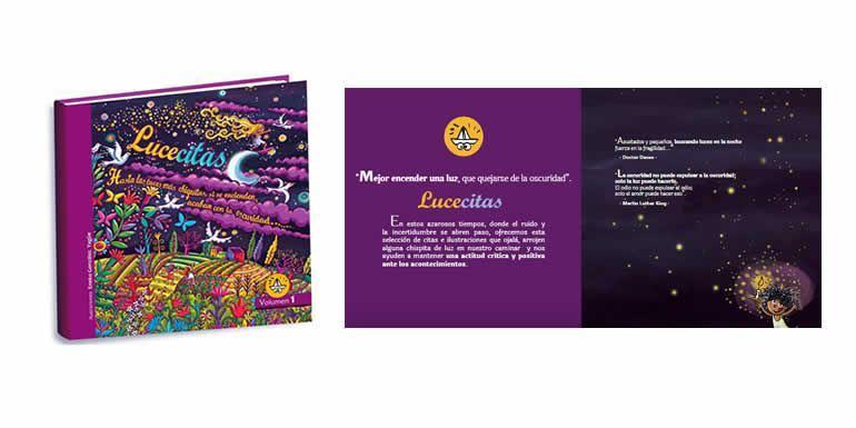 Lucecitas, libro de citas ilustradas para fomentar una actitud positiva