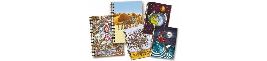 Cuadernos  con ilustraciones y fabricados con papel ecológico