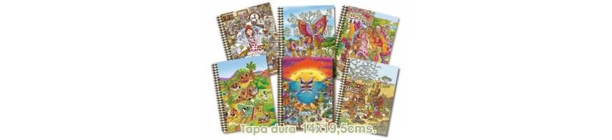 Colección de cuadernos Tapa Dura con ilustraciones a todo color